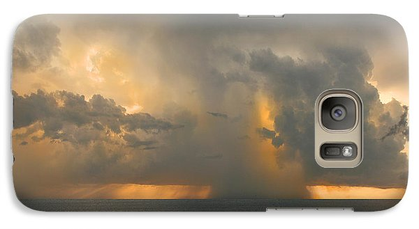 Galaxy Case featuring the photograph Here Comes The Rain. by Mariarosa Rockefeller