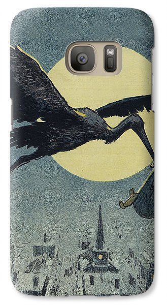 Stork Galaxy S7 Case - Here Comes The Stork Circa Circa 1913 by Aged Pixel