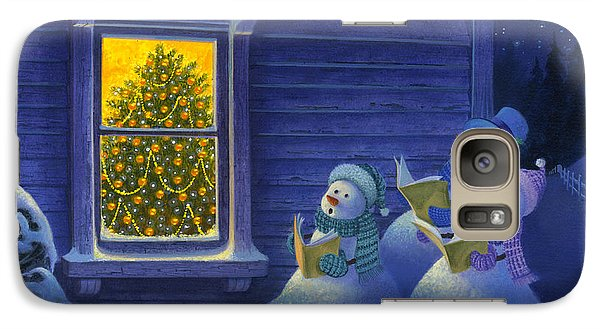 Galaxy Case featuring the painting Here We Come A Caroling by Michael Humphries
