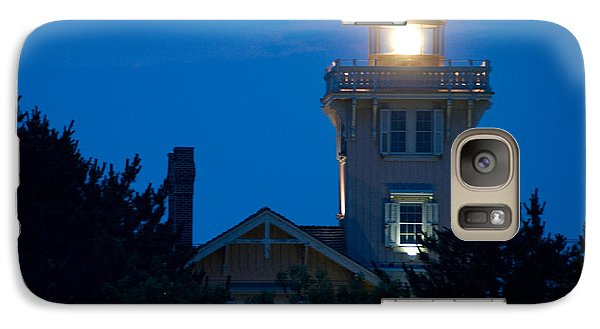 Galaxy Case featuring the photograph Hereford Inlet Lighthouse At Dusk by Greg Graham