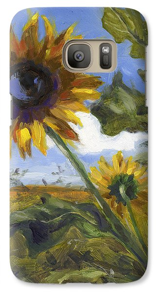 Galaxy Case featuring the painting Here's Looking At You Kid by Nancy  Parsons