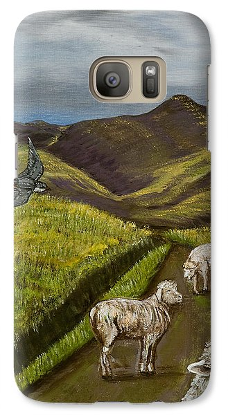 Galaxy Case featuring the painting Here's Looking At You Kid by Susan Culver