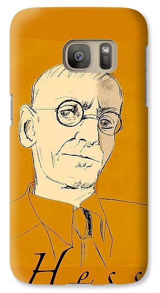 Galaxy Case featuring the digital art Herman Hesse by Asok Mukhopadhyay