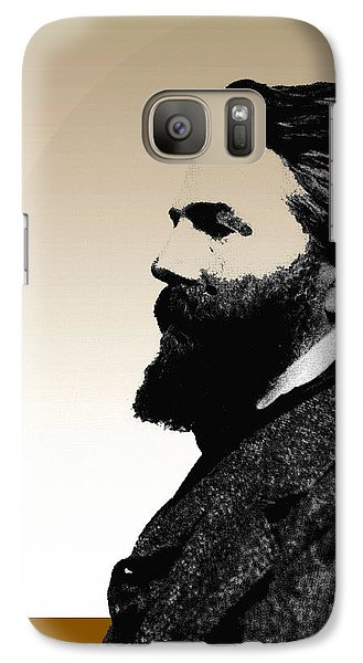 Galaxy Case featuring the digital art Herman Melville by Asok Mukhopadhyay