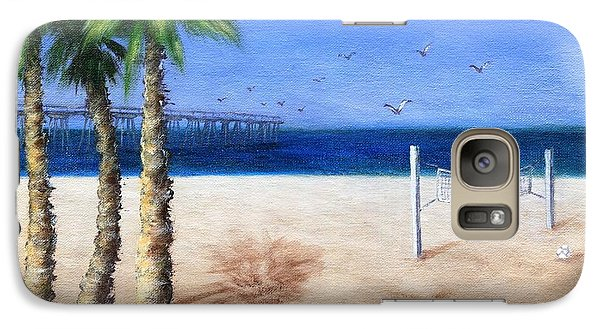 Galaxy Case featuring the painting Hermosa Beach Pier by Jamie Frier