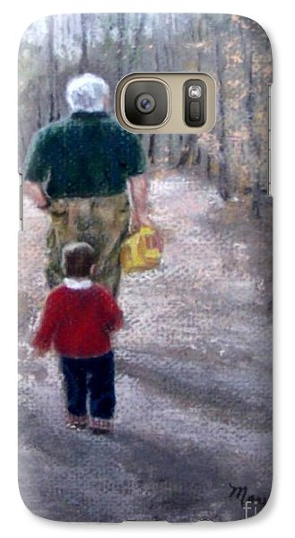 Galaxy Case featuring the painting Hero Worship by Mary Lynne Powers
