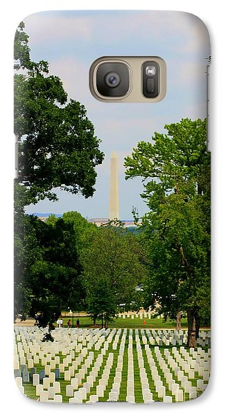 Galaxy Case featuring the photograph Heroes And A Monument by Patti Whitten