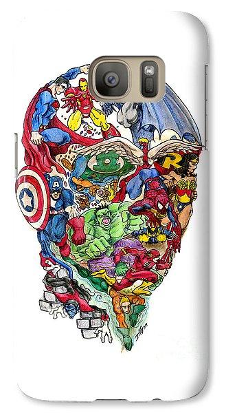 Surrealism Galaxy S7 Case - Heroic Mind by John Ashton Golden