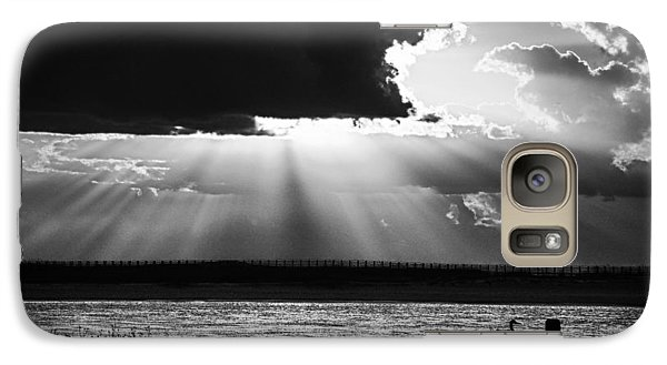 Galaxy Case featuring the photograph Heron And  The Cloudburst by Michael Thomas