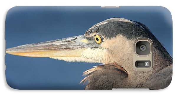 Galaxy Case featuring the photograph Heron Close-up by Christiane Schulze Art And Photography