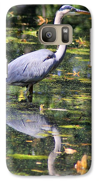 Galaxy Case featuring the photograph Heron Hunter by Kenny Glotfelty