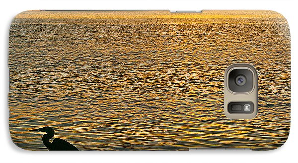 Galaxy Case featuring the photograph Heron Hunting At Sunrise by Joan McArthur