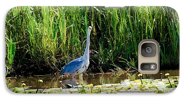 Galaxy Case featuring the photograph Heron by Leif Sohlman