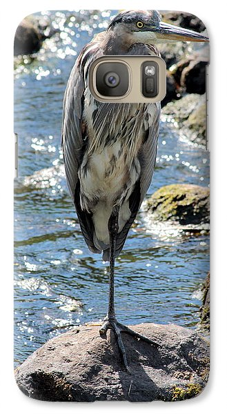 Galaxy Case featuring the photograph Heron On One Leg by Kenny Glotfelty