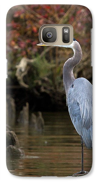 Galaxy Case featuring the photograph Heron Perch by Alan Raasch