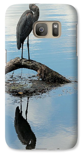 Galaxy Case featuring the photograph Heron Reflection by Kenny Glotfelty