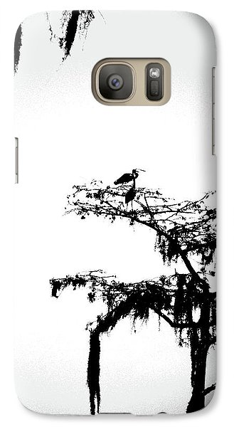 Galaxy Case featuring the digital art Herons by Lizi Beard-Ward
