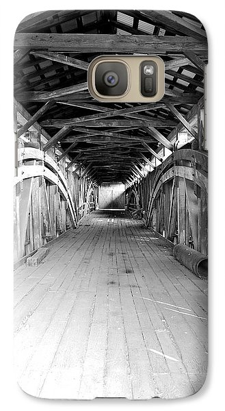 Galaxy Case featuring the photograph Herr's Mill Covered Bridge by Mary Beth Landis