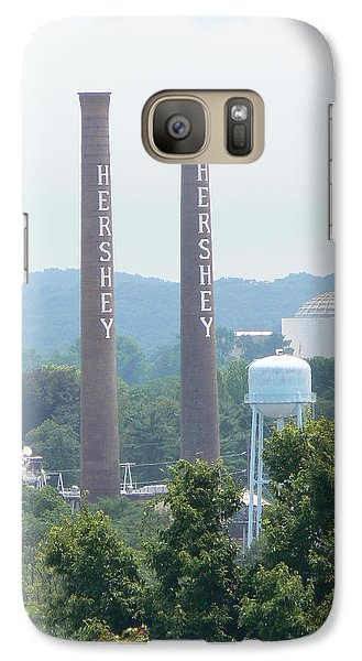 Galaxy Case featuring the photograph Hershey Smoke Stacks by Michael Porchik