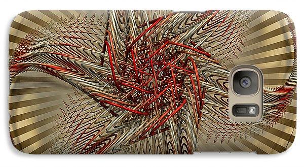 Galaxy Case featuring the digital art Hexagramma by Manny Lorenzo