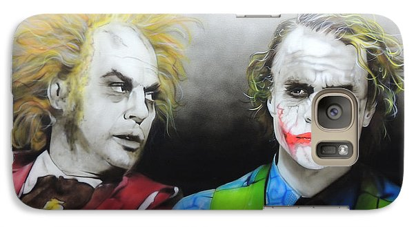 Health Ledger - ' Hey Why So Serious? ' Galaxy S7 Case by Christian Chapman Art