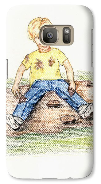 Galaxy Case featuring the pastel Hez by Kim Pate