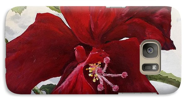 Galaxy Case featuring the painting Double Hibiscus by Alan Lakin