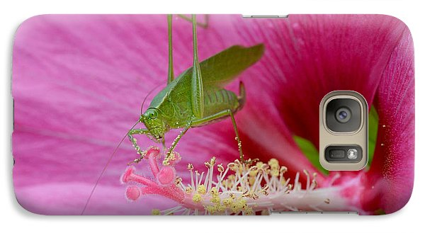 Galaxy Case featuring the photograph Hibiscus And Friend by Lila Fisher-Wenzel