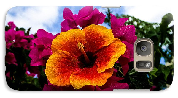 Galaxy Case featuring the photograph Hibiscus Beauty by Randy Sylvia