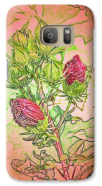 Galaxy Case featuring the digital art Hibiscus Buds by Kathleen Stephens
