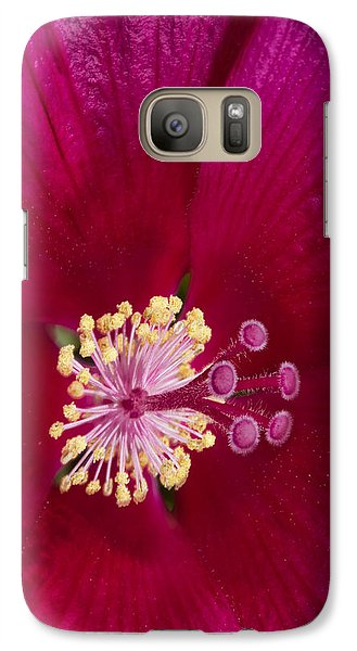 Galaxy Case featuring the photograph Hibiscus Close Up - Phone Case Design by Gregory Scott