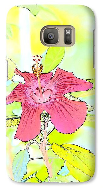 Galaxy Case featuring the photograph Hibiscus Dream 2 by Cathy Shiflett