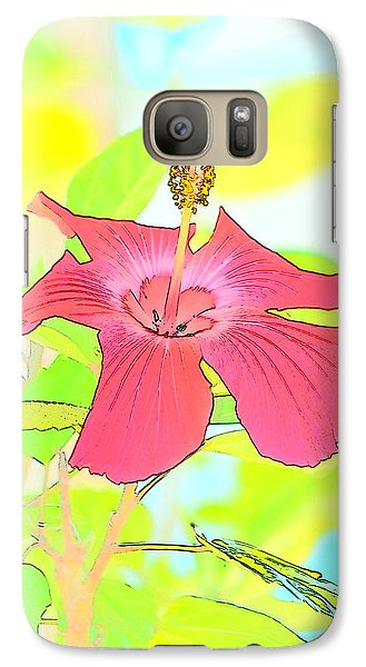 Galaxy Case featuring the photograph Hibiscus Dream by Cathy Shiflett