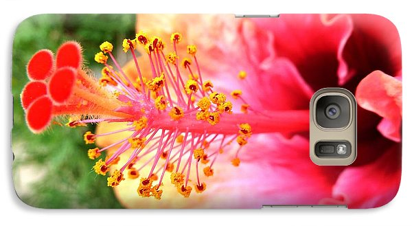 Galaxy Case featuring the photograph Hibiscus Flower by Julia Ivanovna Willhite