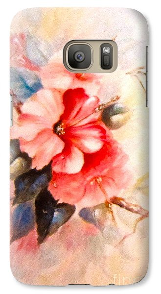 Galaxy Case featuring the painting Hibiscus by Patricia Schneider Mitchell