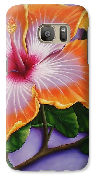 Galaxy Case featuring the painting Hibiscus by Paula L