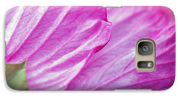Galaxy Case featuring the photograph Hibiscus Petals In Pink by Lila Fisher-Wenzel