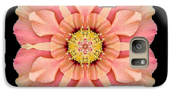 Galaxy Case featuring the photograph Hibiscus Rosa-sinensis I Flower Mandala by David J Bookbinder