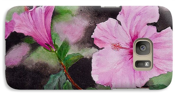 Galaxy Case featuring the painting Hibiscus - So Pretty In Pink by Sher Nasser