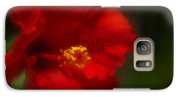 Galaxy Case featuring the photograph Hibiscus Softly 2 by Travis Burgess