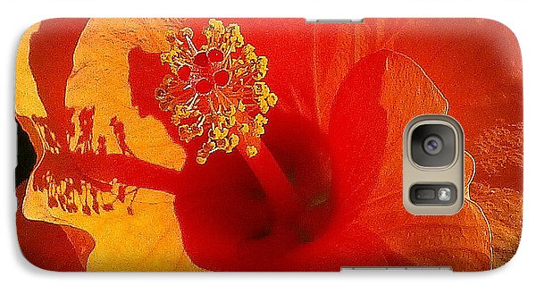 Galaxy Case featuring the photograph Hibiscus by Suzanne Silvir