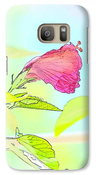 Galaxy Case featuring the photograph Hibiscus Unbloomed by Cathy Shiflett