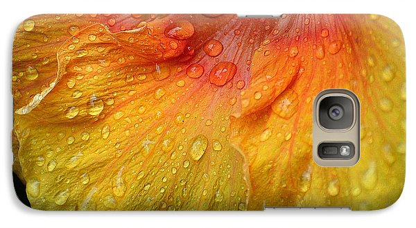 Galaxy Case featuring the photograph Hibiscus Water Drops by Lisa L Silva