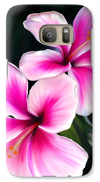 Galaxy Case featuring the painting Hibiscuses by Laura Bell