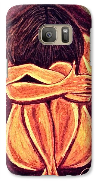 Galaxy Case featuring the drawing Hidden Beauty by Chrissy  Pena
