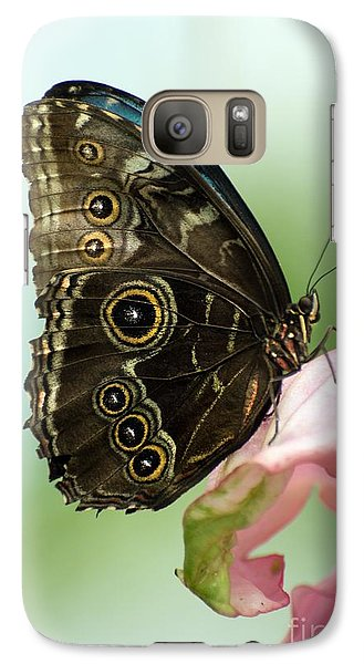 Galaxy Case featuring the photograph Hidden Beauty Of The Butterfly by Debbie Green