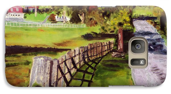 Galaxy Case featuring the painting Hidden Brook Farm by Michael Daniels