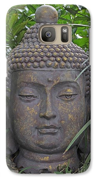 Galaxy Case featuring the photograph Hidden Buddha by Dodie Ulery