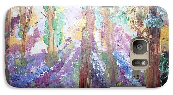 Galaxy Case featuring the painting Hidden Forest Fairies by Judith Desrosiers