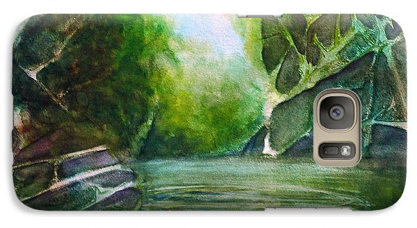 Galaxy Case featuring the painting Hidden Green by Allison Ashton